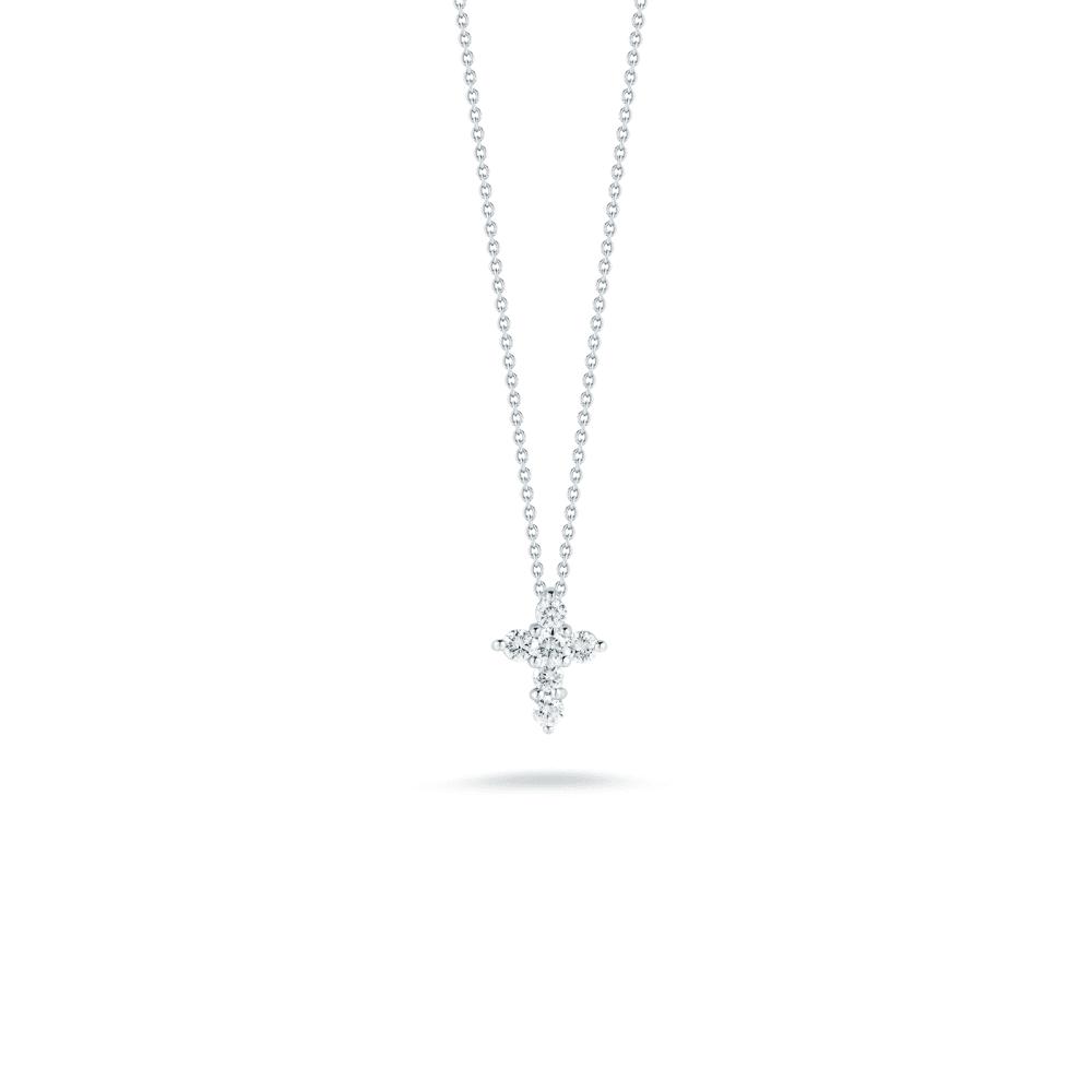 Roberto Coin Tiny Treasures Cross Pendant with Diamonds