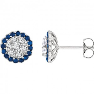 Cluster Diamond Earrings Auburn AL