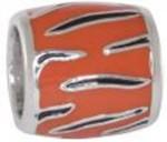 Navy Tiger Stripe Orange Background Bead