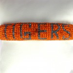 Large Orange and Blue TIGERS Crystal Bangle