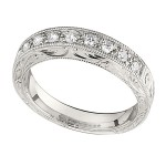 Wedding Band featuring 9 Round Brilliant Diamonds with 0.27ctw in Yellow Gold