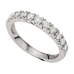 Wedding Band featuring 12 Round Brilliant Diamonds with 0.46ctw in Yellow Gold