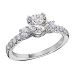 Engagement Ring featuring 10 Round Brilliant Diamonds with 0.50ctw in Yellow Gold