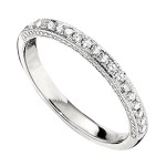 Wedding Band featuring 19 Round Brilliant Diamonds with 0.19ctw in White Gold