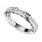 Wedding Band featuring 20 Round Brilliant Diamonds with 0.50ctw in Yellow Gold