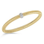 Roberto Coin Primavera Flexible Bangle in 18KY with Diamonds