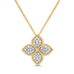 Princess Flower Large Pendant with Diamonds