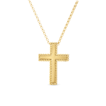 New Barocco Gold Cross Necklace