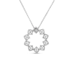 Roman Barocco MEDIUM STARBURT PENDANT WITH DIAMONDS