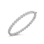 Roman Barocco Single Row Diamond Bangle