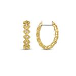 Roman Barocco Oval Hoop Earring
