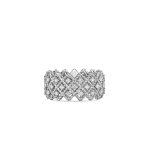 Roman Barocco Three Row Diamond Band