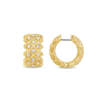 Roman Barocco Three Row Hoop Earring