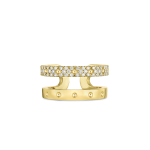 Symphony DOUBLE SYMPHONY POIS MOI RING WITH DIAMONDS