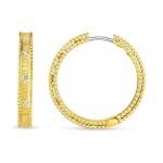 Roberto Coin 18Kt Gold Princess Bangle With Diamonds