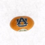 Orange Football with Navy AU Bead