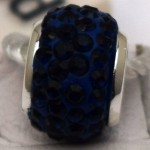 Navy Crystal Bead