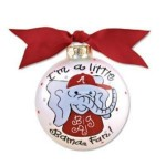 Alabama Little Bama Fan Boy Ornament