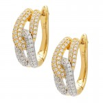 Diamond Two Tone Knot Earrings