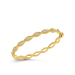 New Barocco 1 Row Bangle with Diamonds