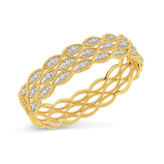 New Barocco 3 Row Bangle with Diamonds