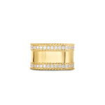 Princess Ring with Diamond Edges