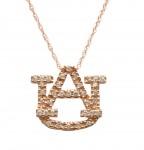 Medium 14k Rose Gold Diamond AU Pendant