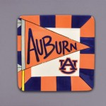 Auburn University Flag Small Plate