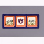 Auburn University Three Section Tray