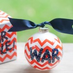 Auburn Chevron War Eagle Ornament