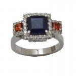 Orange and Blue War Eagle Ring