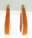 Orange Crystal Inside/outside Horseshoe Earrings