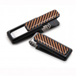 Orange and Dark Blue Inlay Money Clip By M-Clip®