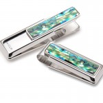Mother of Pearl Natural Green Money Clip By M-Clip®