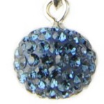 Blue Crystal Ball Pendant
