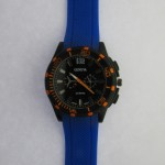 Orange Dial Blue Strap Gents Watch
