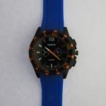 Orange Dial Blue Strap Gents Watch