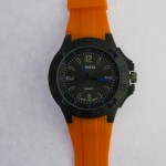 Blue Dial Orange Strap Gents Watch