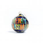 Colorful Auburn Cloisonné Christmas Ornament