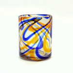 Orange and Blue Swirled DOF