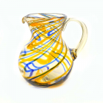 Orange and Blue Swirled Pitcher