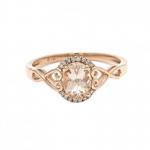 Oval Morganite Ring