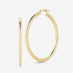 Roberto Coin Perfect Gold Hoops Medium Round Hoop Earrings