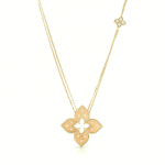 Roberto Coin 18KY Venetian Princess Necklace with Diamonds