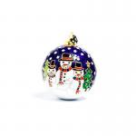 Auburn Snowman Cloisonné Christmas Ornament