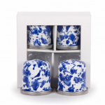 COBALT SWIRL SALT & PEPPER SHAKERS