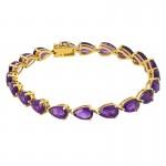 14Y Pear Amethyst Bracelet