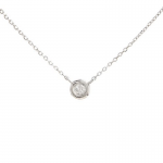 0.05ct Bezel Set Diamond Necklace