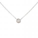 0.05ct Bezel Set Diamond Necklace