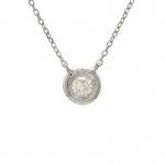 Lau 0.09ct Bezel Set Diamond Necklace